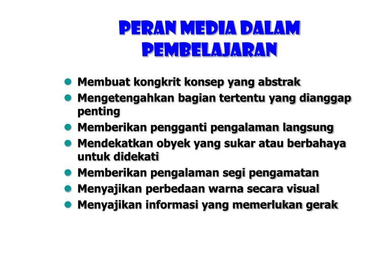 Peran media dalam pembelajaran