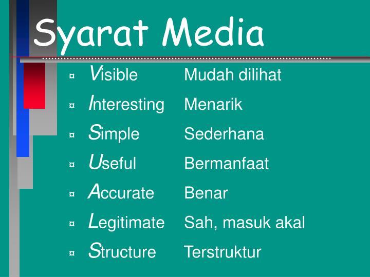 Syarat Media