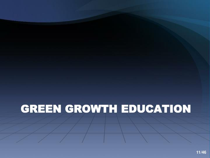 Green Growth Education
