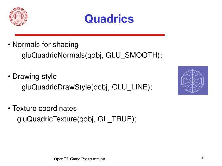 Quadrics