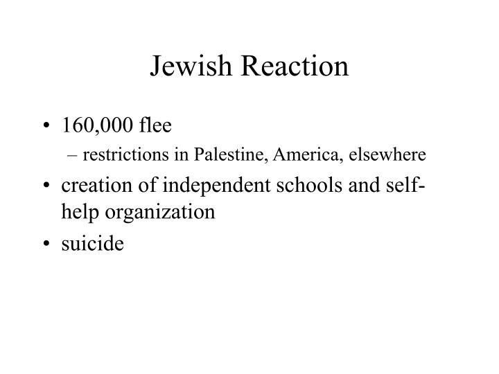 Jewish Reaction