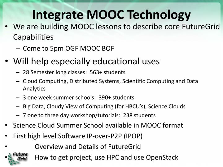Integrate MOOC Technology