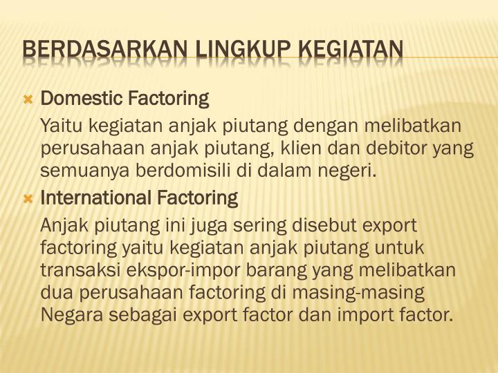 Domestic Factoring
