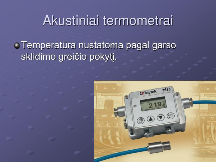 Akustiniai termometrai