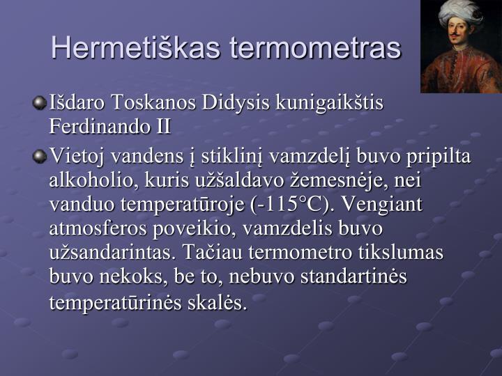 Hermetiškas termometras