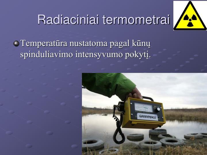 Radiaciniai termometrai
