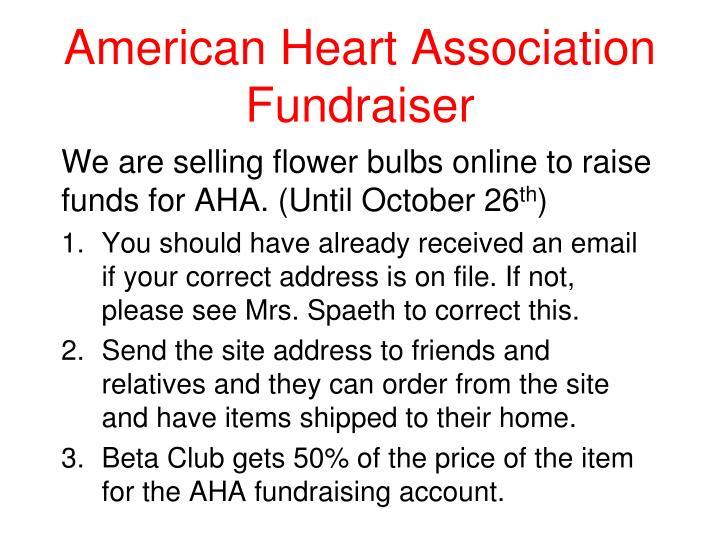 American Heart Association Fundraiser