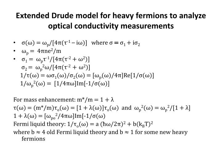 Extended Drude model for heavy fermions to analyze optical conductivity measurements