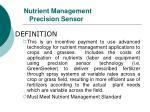 nutrient management precision sensor