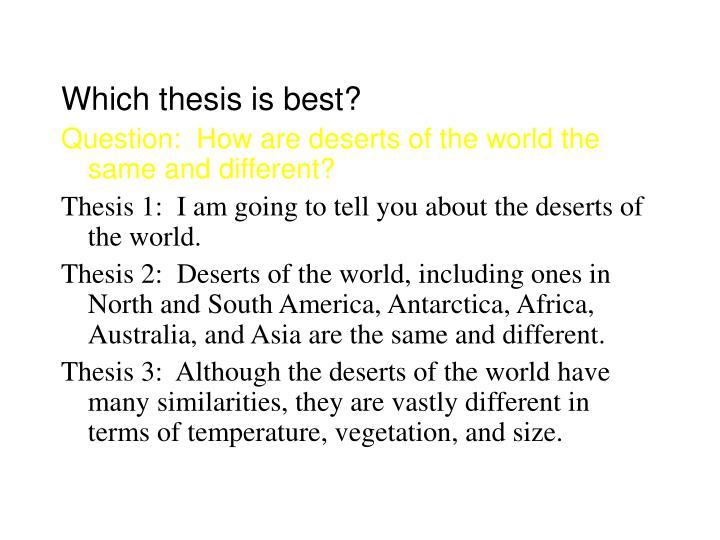 Which thesis is best?