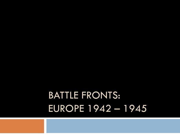 Battle Fronts: