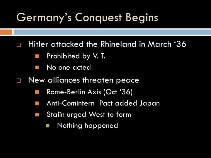 Germany's Conquest Begins