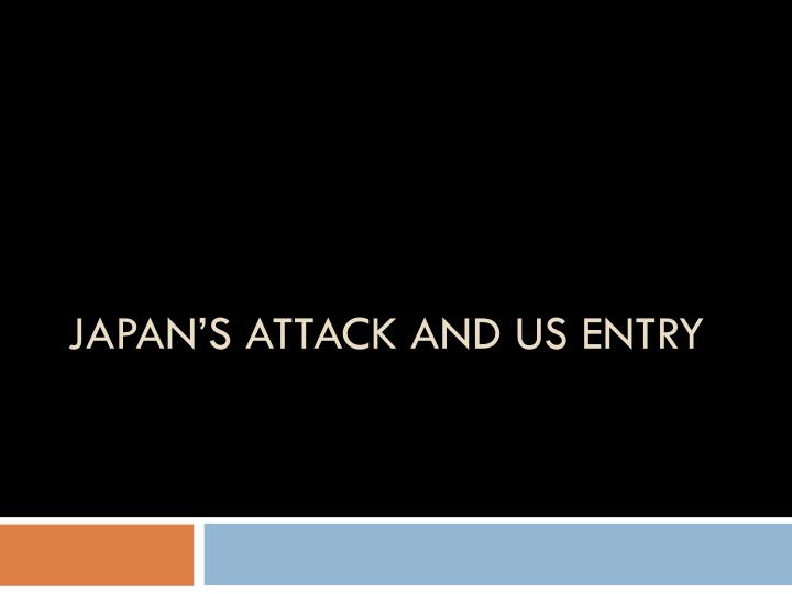 Japan's Attack and US Entry
