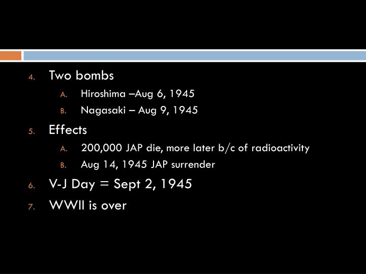 Two bombs