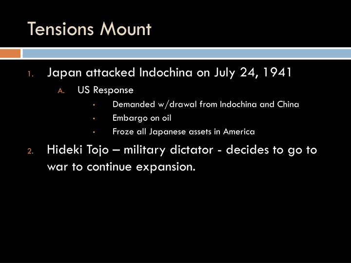 Tensions Mount