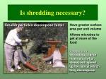 is shredding necessary