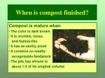 when is compost finished