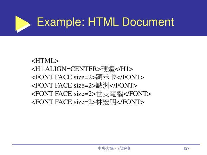Example: HTML Document