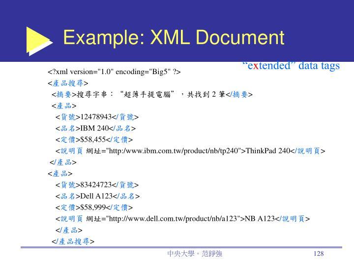 Example: XML Document