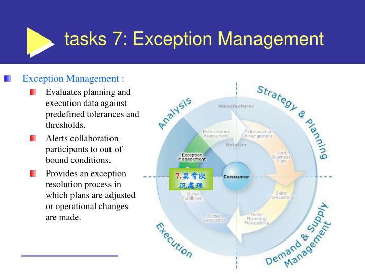 tasks 7: Exception Management