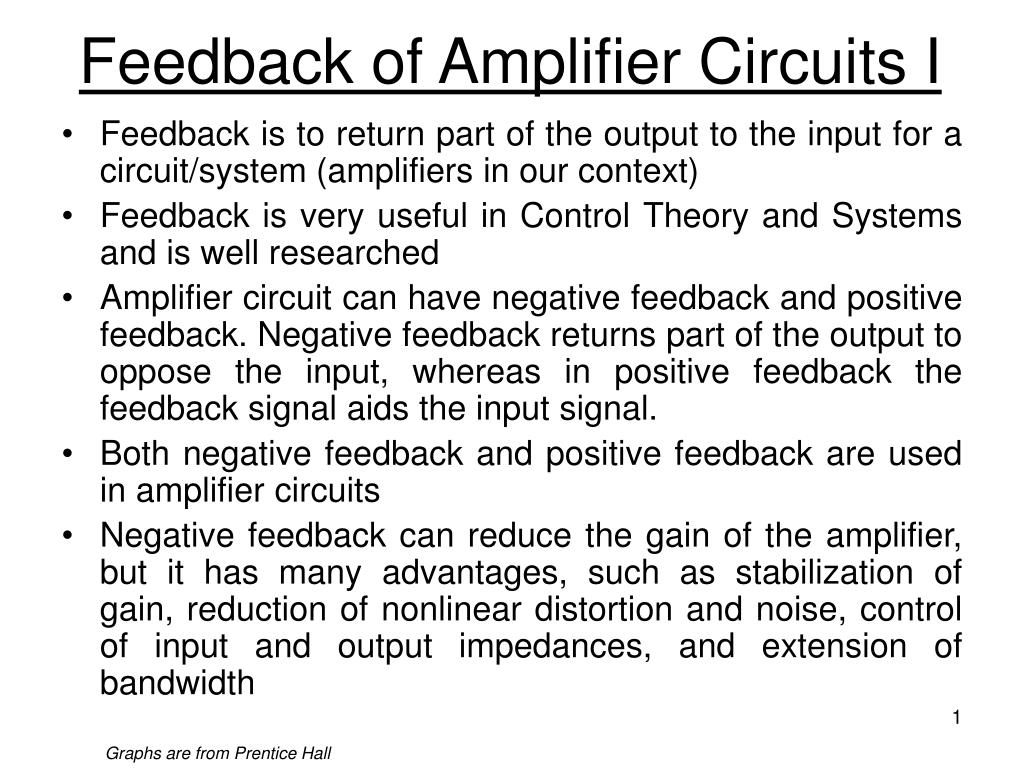 Ppt Feedback Of Amplifier Circuits I Powerpoint Presentation Id Simple Op Amp Inverting Circuit Employing Negative N