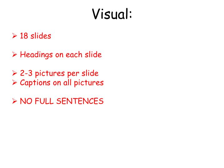 Visual: