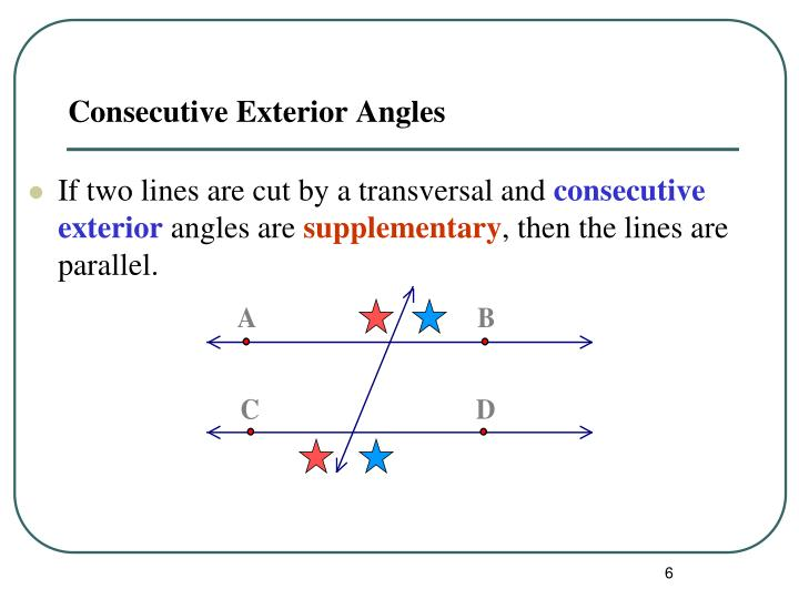 Ppt proving lines parallel powerpoint presentation id - Definition of interior and exterior angles ...