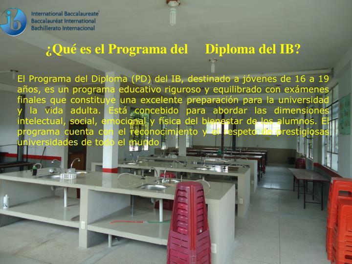 ¿Qué es el Programa del     Diploma del IB?
