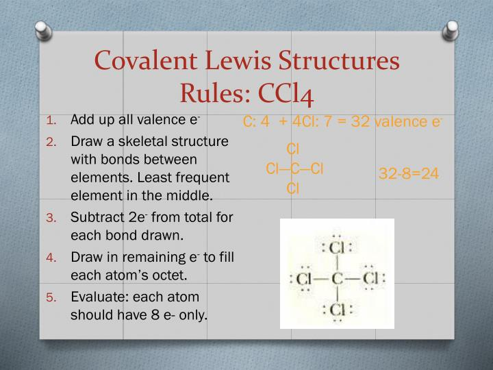 Covalent Lewis Structures Rules: CCl4