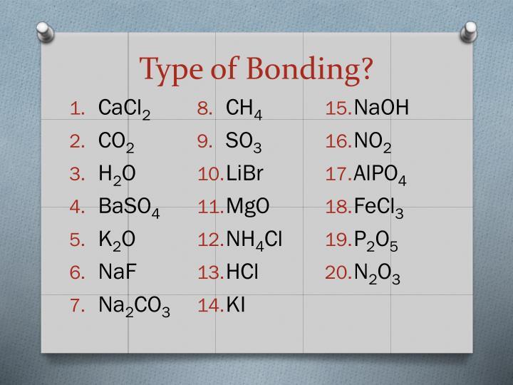 Type of Bonding?