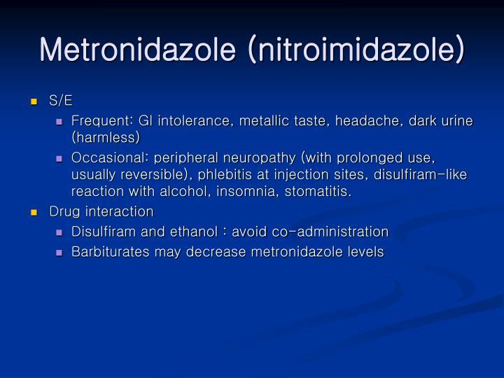 Metronidazole (nitroimidazole)