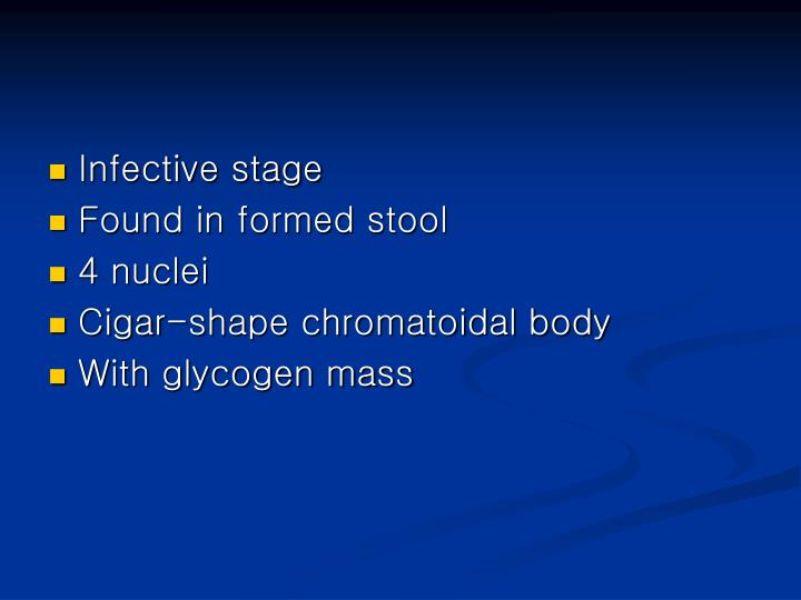 Infective stage