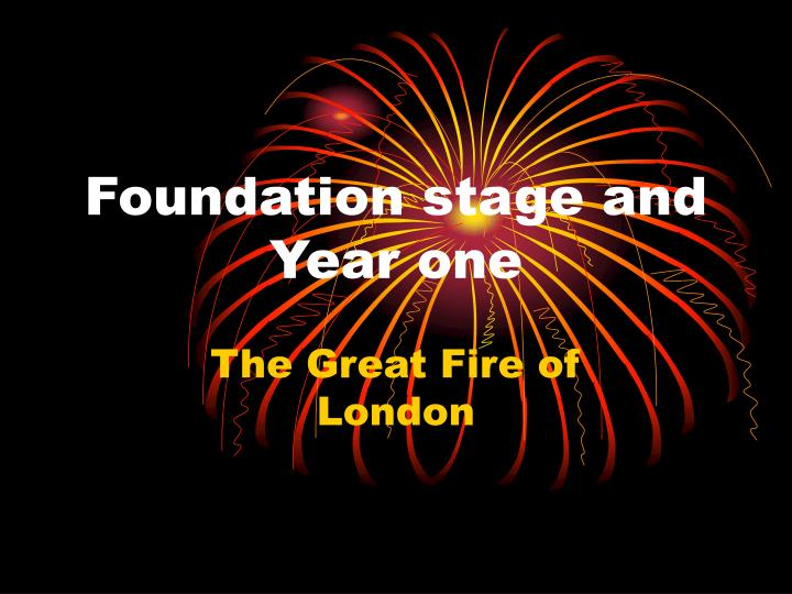 foundation stage and year one