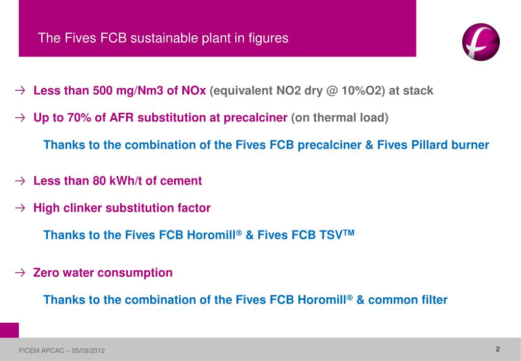 PPT - The Fives FCB sustainable cement plant PowerPoint Presentation