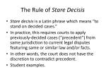 the rule of stare decisis