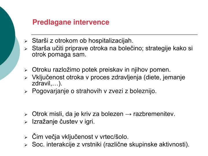 Predlagane intervence