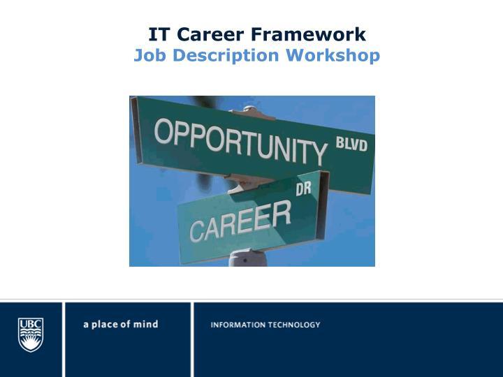 IT Career Framework