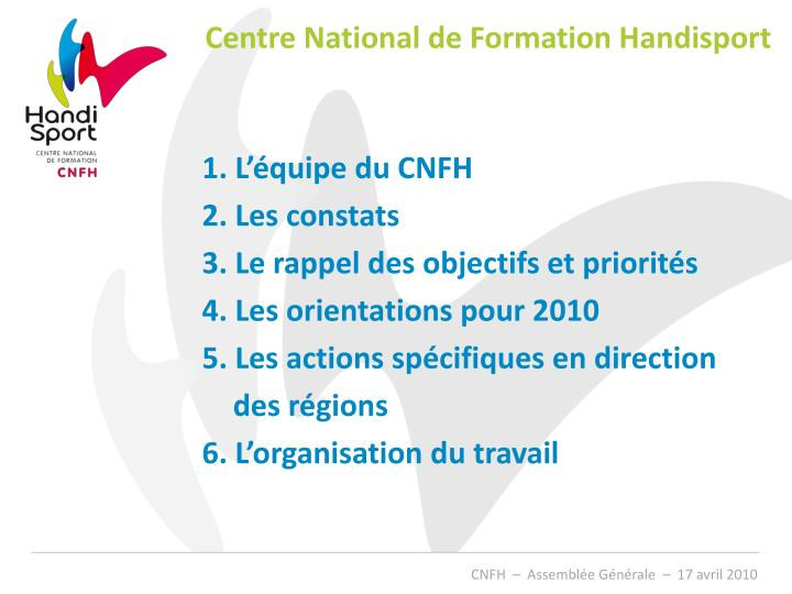 Centre National de Formation Handisport
