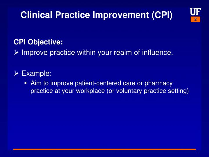 Clinical practice improvement cpi1