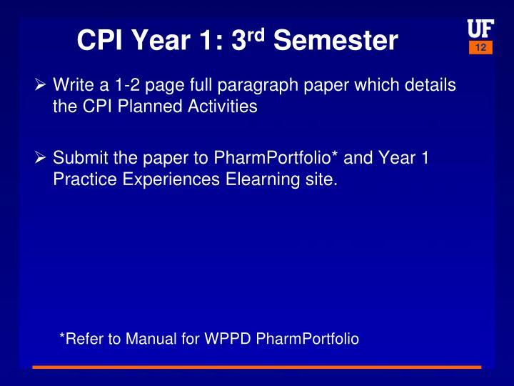 CPI Year 1: 3