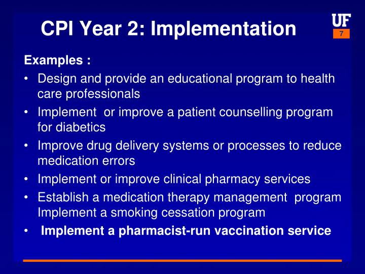 CPI Year 2: Implementation
