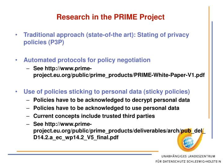 Research in the PRIME Project