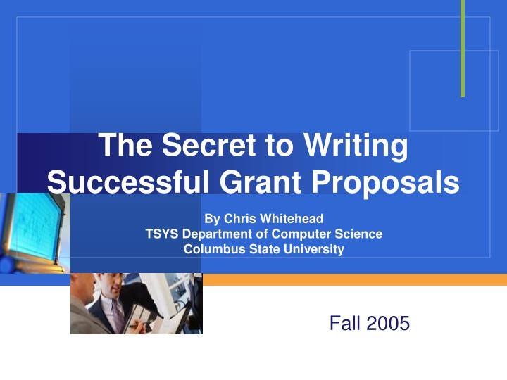 the secret to writing successful grant proposals n.
