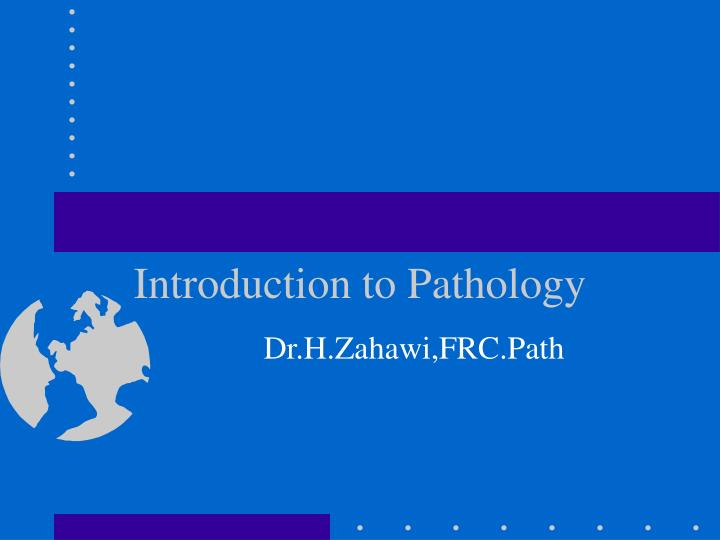 introduction to pathology n.