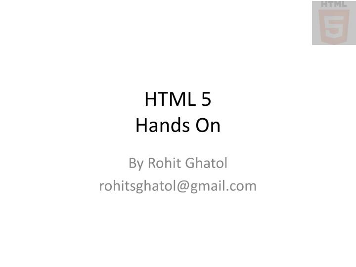 html 5 hands on n.