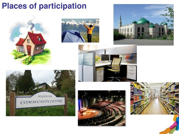 Places of participation