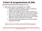 criteri di progettazione di xml1