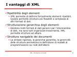 i vantaggi di xml1