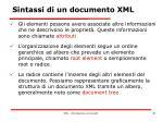 sintassi di un documento xml1