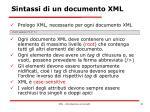 sintassi di un documento xml4